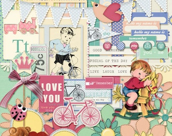 Digital Scrapbooking Kit Childs Play INSTANT DOWNLOAD