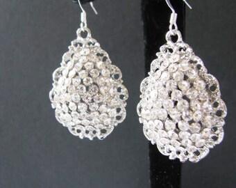 Crystal Teardrop Earrings Wedding Earrings Bridal Earrings Crystal Jewelry Rhinestone Jewelry Wedding Pageant Jewelry