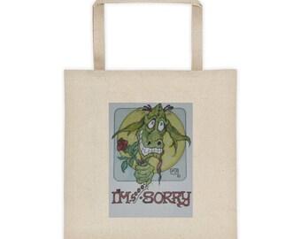 I'm Sooo Sorry Dragon Tote Bag