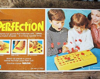 vintage Perfection game 1970's Lakeside board game kitsch