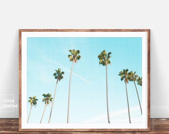 Tropical Print, Palm Print, Palm Poster, Palm Tree Print, Watercolor Palm, Palm Photography, Palm Digital Print, Palm Leaf Print, Palm Decor