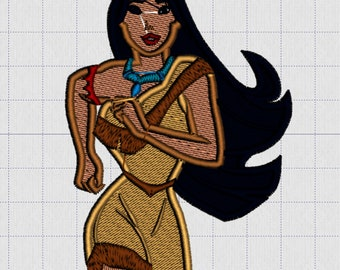 Embroidery Iron-on Patch - Pocahontas running