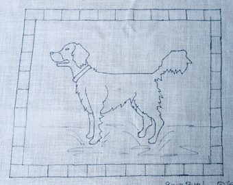 Best Bud Dog Rug Hooking Pattern