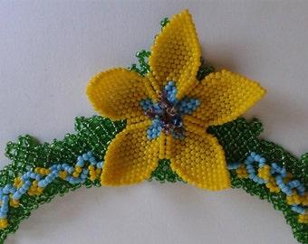Beaded Necklace Fleur