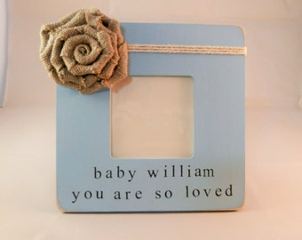 You are so loved frame, baby boy gift personalized newborn boy gift for baby