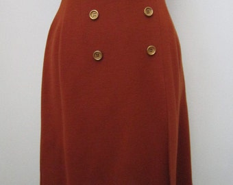 1970's Rustic Terracotta High Waisted  skirt