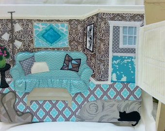 Wall Hanging-3D Illusion-Fabric Applique