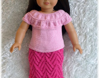 American Girl - Ruched Top and Skirt (knitting pattern)