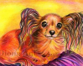 CUSTOM PET PORTRAIT, drawing,Bespoke pet portrait,Bespoke artwork,Pet drawing, Dog drawing,Toy Terrier, Terrier,  Russian Toy Terrier, Gift