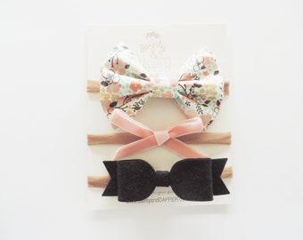 Baby Headbands / Baby Girl Bow Headband / Bow Headband Set / Baby Bow Headbands / Nylon Headbands / Baby Headband Set / Baby Headband Bows