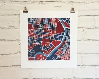 University of Pennsylvania Map Print