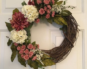 Ruby Pearl Wreath