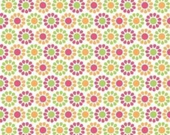 My Minds Eye for Riley Blake, Summer Song, Summer Blooms in Orange C7054 - 1 Yard - Clearance