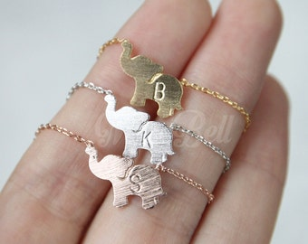 Personalized elephant necklace, Elephant jewelry, Christmas gift necklace, Animal necklace, Animal jewelry, Personalized BFF necklace,