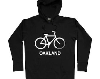 Mountain Bike Pullover Hoodie, Raglan Hooded Fleece Sweatshirt, Dirt Bike, Biking Gift, Gift for Men, Bike Shirt, Cycling Shirt