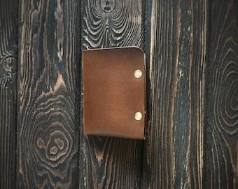 Men's Leather wallet, Men's Wallet, Leather Wallet, Minimal Leather Wallet, thin leather wallet