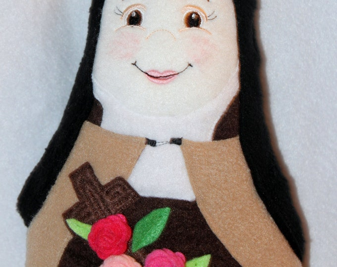 St Therese Soft Saint Doll, Saint Therese of Lisieux, The Little Flower Plush Doll.