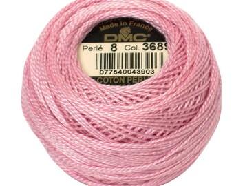 DMC 3689 Perle Cotton Thread | Size 8| LT Mauve