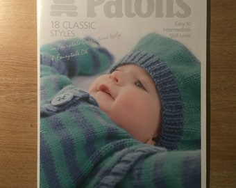 Baby knitting patterns booklet, 18 designs, 4ply and Dk. Patons 3791 ORIGINAL