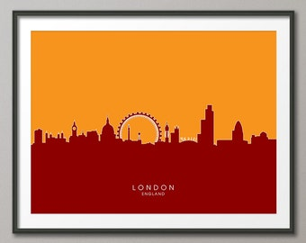 London Skyline, London Cityscape England, Art Print (601)