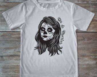 Sugar skull shirt, sugar skull tee, sugarskull shirt, dia de muertos shirt, dia de los muertos tee, skull shirt, girl skull shirt, tattoos