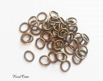 50 x bronze 5x7mm oval rings