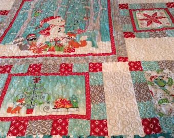 Christmas Throw Quilt Christmas Forrest
