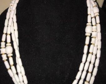 Vintage Lucite Necklace Multi Strands