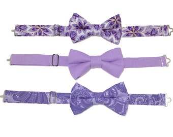 Boys Purple Bow Tie, Mens Purple Bow Tie, Toddler Bow Tie, Bow Tie, Cake Smash Outfit, Wedding Ring Bearer, Boys Formal Wear, Baby Bow Tie