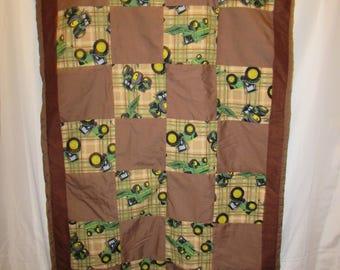 JOHN DEERE TRACTOR toddler blanket