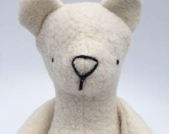Organic Natural Polar Teddy Bear Doll Stuffed Animal Toy