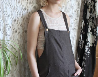 Dungarees, Jumpsuit, French Workwear, Boho Clothing, Playsuit, Boho Clothing Women, Boho Chic, Overalls Women, Baggy Pants, Womens Jumpsuit