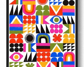 Brightside Grid  -  Lisa Congdon Archival Art Print