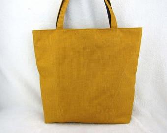 bag large tote weaving mustard yellow