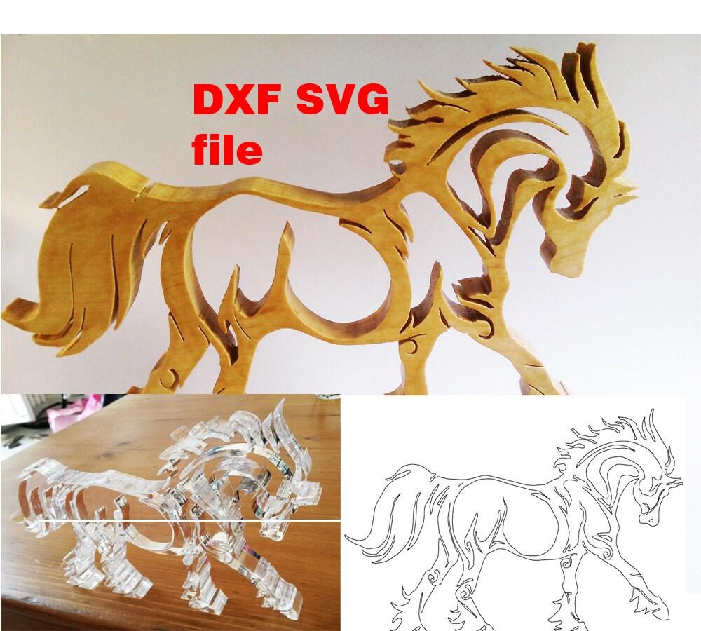cheval svg et dxf fichier pour d coupe laser vinyle cnc et. Black Bedroom Furniture Sets. Home Design Ideas