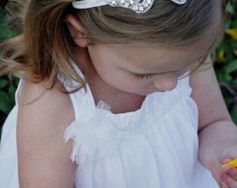 Rhinestone headband- Flower girl headband-Jeweled Headband- Bling headband- Wedding headband