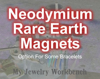 Neodymium Rare Earth Magnets. Set of 2 or 4 Magnets