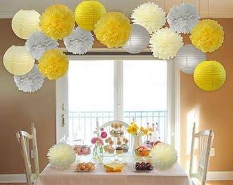 Yellow Themed Baby Shower ~ Yellow grey etsy