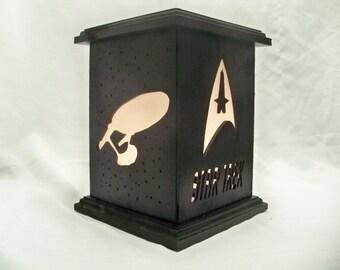 Star Trek wooden lantern