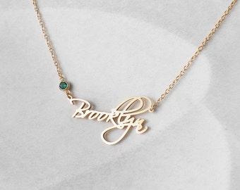 Custom name necklace etsy aloadofball Gallery