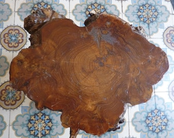 stool of treated solid wood end table