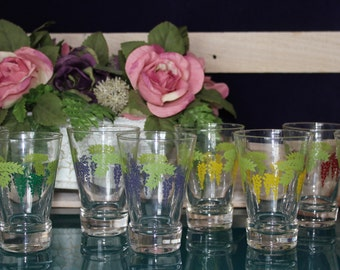 Set of Juice Glasses and Fruit Bowls