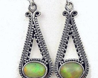DANGLE EARRINGS Opal Ethiopian jewelry Opal, opal jewels, opal earrings, ethiopian opals, natural stone, av57