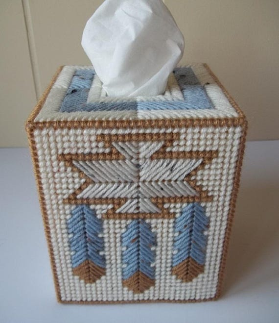Native American Design Tissue Box Cover Plastic Canvas Tissue on native american bath towels, native american dinnerware sets, southwestern themed bathroom accessories, western design bathroom accessories, native american drapes, indian bathroom accessories, native american curtains and valances, native american decor catalog, india design bathroom accessories, native american inspired bathroom, native american feather pattern, native american bathroom decor, native american rugs and bathroom accessories, native american homes, native american indian basket weaving clip art,