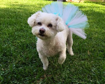 Cotton Candy Dog Tutu, Pet Tutu, Dog Skirt, Dog Clothes, Dog Accessories, Cute Dog Outfit, Tutus and Hair Bows,Puppy Tutu, Dog Costume