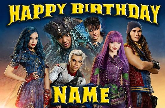 Disney Descendants 2 Uma Happy Birthday Name Custom