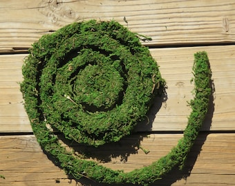 Vine moss, Super Moss, wired Mossy garland, 6 ft length, rustic crafts,wreaths,florals,dish gardens, topiaries