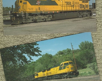 Chicago and North Western Railway Lot of 2 Postcards Unit Nos. 8635 and 8808