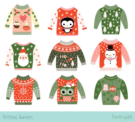 Ugly Christmas Party Sweaters: Cute Ugly Christmas Sweater Clipart Cute Ugly Sweater Party