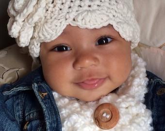 Cowl-scarf-neck warmer - child- baby- crochet